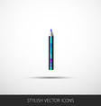 Pencil icon in a flat style with shadow vector image