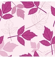 Pink seamless pattern with leaves vector image