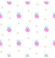 raspberry fruit neon light seamless pattern vector image vector image