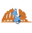 Sad donkey waving hand with Goodbye text vector image vector image