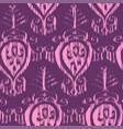 seamless ikat pattern bordo vector image vector image