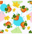 seamless pattern witn pumpkin paint splash and vector image vector image
