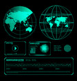 search radar screen blue elements set vector image vector image
