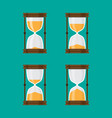 set of hourglass isolated green background vector image vector image