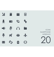 Set of smartphone interface icons vector image