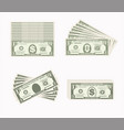 set one dollar green vector image vector image