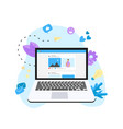 social media concept with photo content vector image