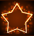 star frame border vector image