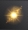 sun on transparent background vector image vector image