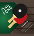 table tennis flat vector image vector image