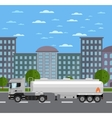 Tank truck on road in city vector image