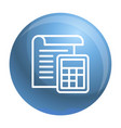 tax paper icon outline style vector image