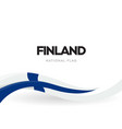 the republic finland waving flag banner vector image