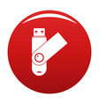 usb device icon red vector image vector image