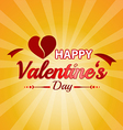 valentines day typographic background vector image vector image