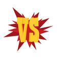 versus letters or vs logo emblem vector image vector image