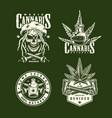 vintage marijuana labels set vector image vector image