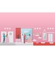 Wedding shop interior vector image vector image