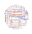 Portuguese language collage vector image