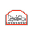 Tow Wrecker Truck Side Retro vector image