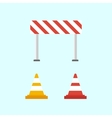 Warning signs Traffic cone vector image