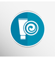 Blue Long Clean Tube Of Cream Version vector image