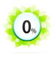 0 Percent Icon vector image vector image