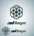 3d logo 8 vector image