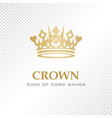 a big golden crown vector image