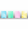 a set of abstract patterns with distorted lines vector image vector image