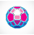 abstract low poly object with black lines and vector image vector image