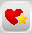 add to favorites icon - heart with star vector image vector image