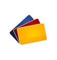 atm card logo design template vector image