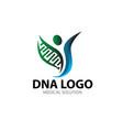 bio tech health logo design for medical service vector image