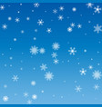 blue christmas snowflakes background white vector image vector image