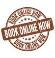 Book online now brown grunge round vintage rubber