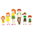 Boy and girl growing up vector image vector image