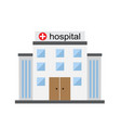 bright hospital building vector image vector image