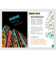 Business Brochure Template 11 A vector image vector image