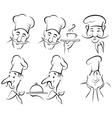 Chef cook set vector image vector image