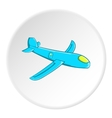Childrens plane icon cartoon style vector image