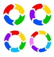 Color circle arrows set vector image vector image