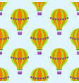 color glossy air balloons seamless pattern vector image vector image