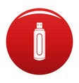computer flash drive icon red vector image vector image