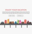 conveyor belt in airport baggage hall baggage vector image