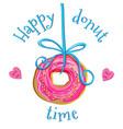 creative doughnut vector image