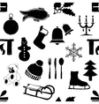 doodle seamless christmas pattern vector image