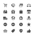 e-commerce glyph icons vector image