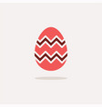 easter egg color icon with shadow spring vector image vector image