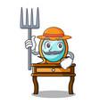 farmer dressing table character cartoon vector image